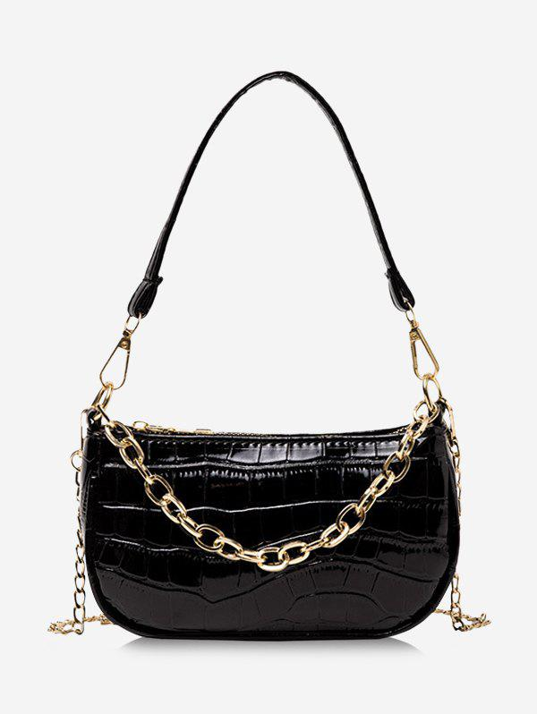 Cheap Chain Textured Solid Shoulder Bag