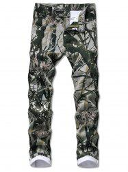 Camouflage Plant Pattern Jeans -