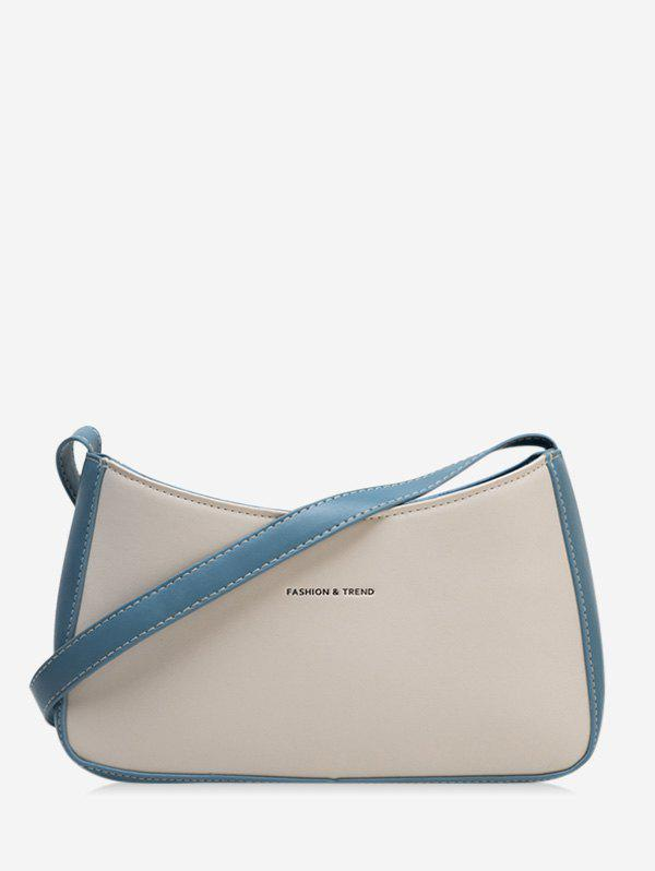 Chic Two Tone Casual Portable Crossbody Bag