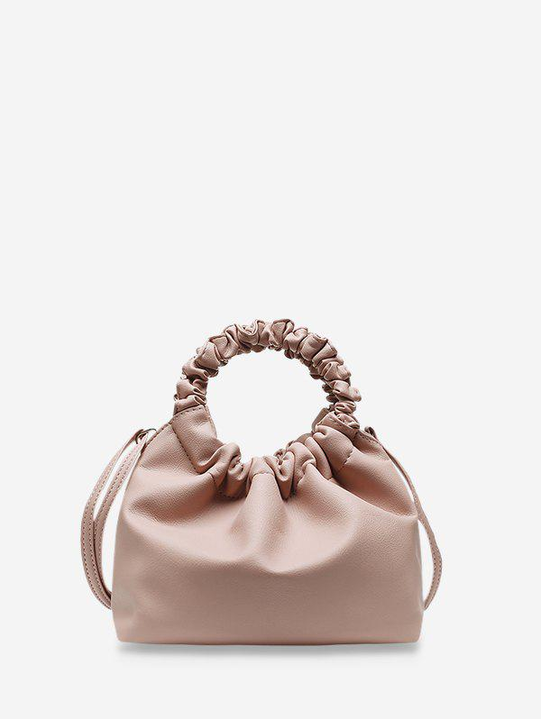Store Ruched Handle Solid Hand Bag