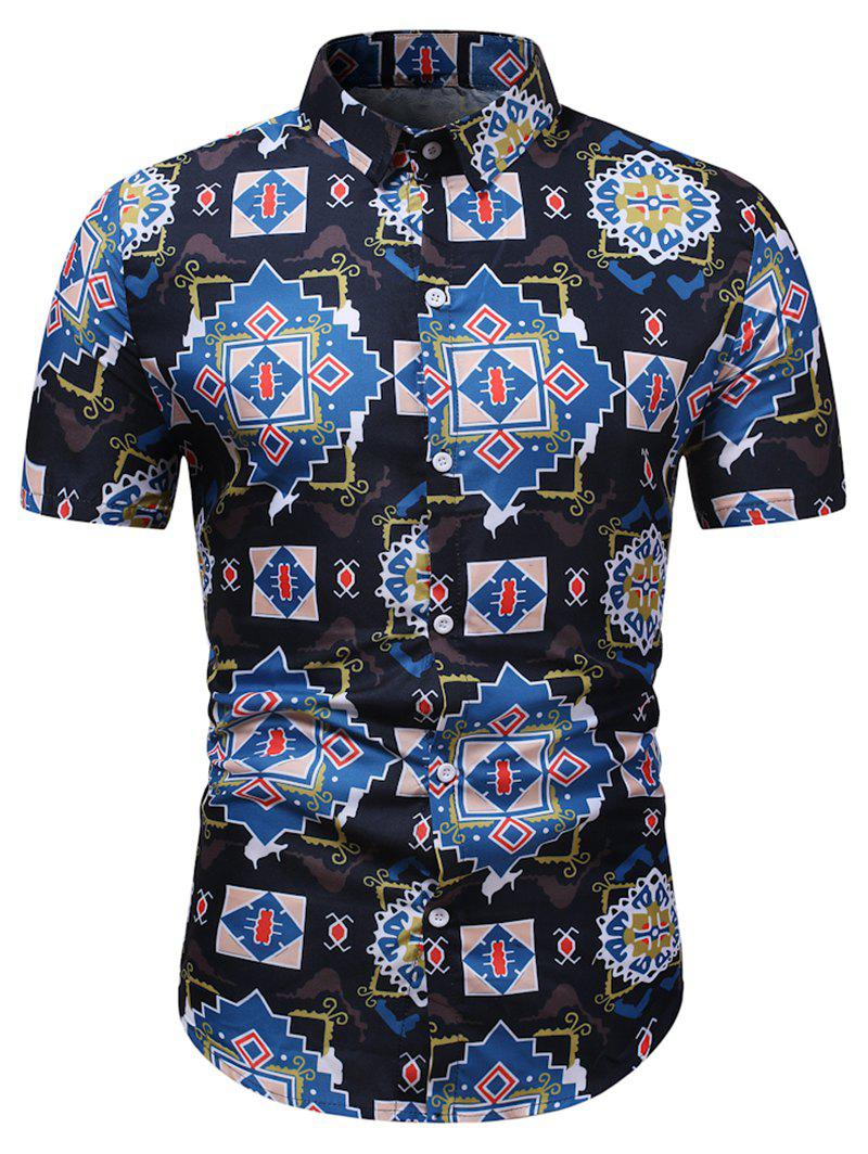 Buy Geometric Graphic Pattern Button Down Shirt
