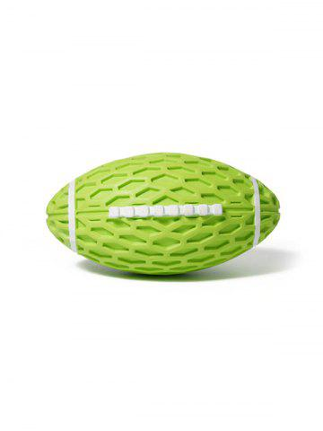 Football Shape Rubber Squeaky Dog Chew Toy