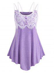 Lace Panel Cami Asymmetrical Top -