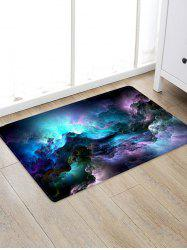 Galaxy Clouds Pattern Water Absorption Area Rug -