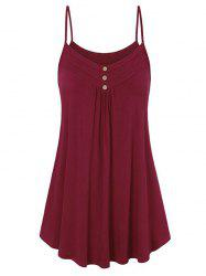 Buttons Tunic Cami Top -