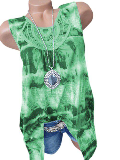 Outfit Plus Size Tie Dye Lace Crochet Tank Top