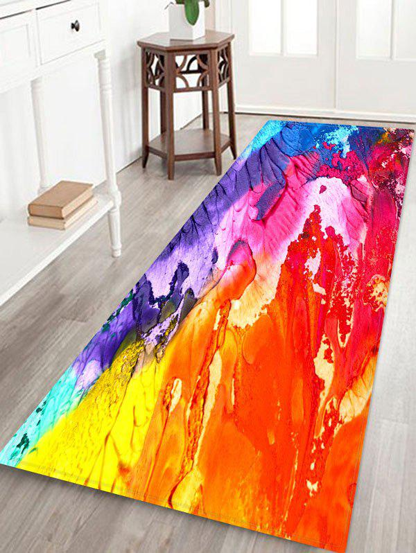 Chic Abstract Oil Painting Floor Mat