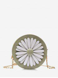 Floral Mini Round Chain Crossbody Bag -