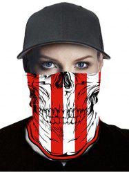Skull and Stripes Print Outdoor Riding Neck Gaiter Mask -