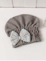 Bowknot Hair Drying Towel Hat -