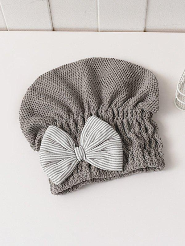 Buy Bowknot Hair Drying Towel Hat