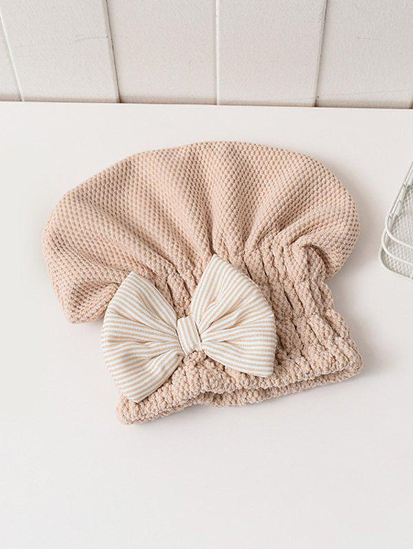 Fashion Bowknot Hair Drying Towel Hat