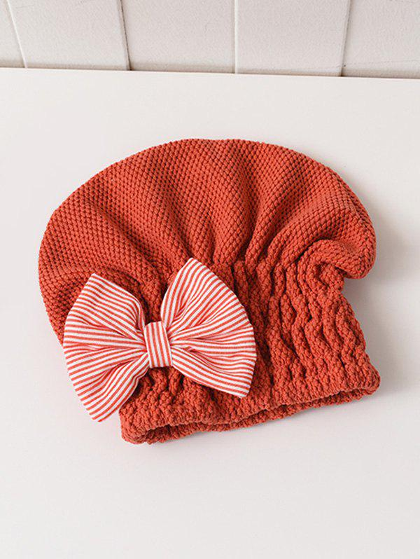 Outfit Bowknot Hair Drying Towel Hat