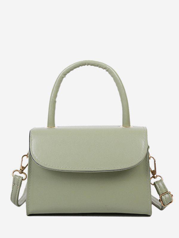 Shops Solid Color Flap Top Handle Mini Crossbody Bag