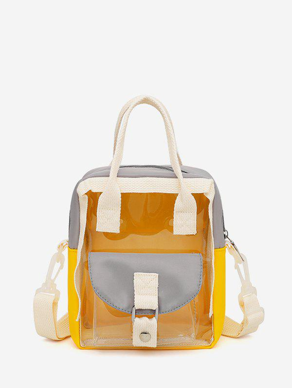 Best Colorblock Transparent Jelly Flap Pocket Mini Backpack