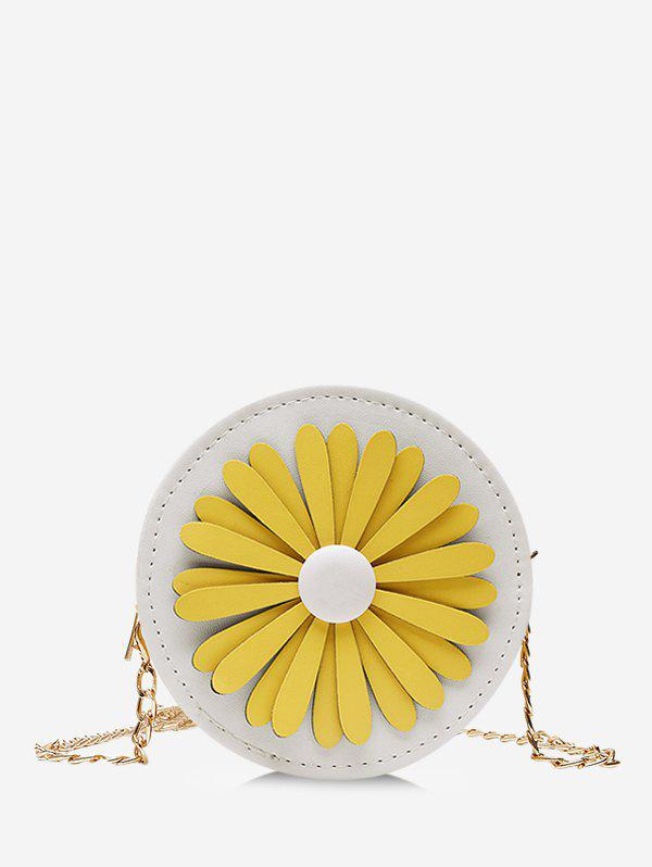 Online Floral Mini Round Chain Crossbody Bag