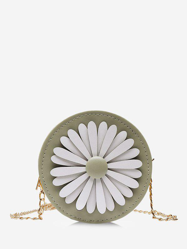 Affordable Floral Mini Round Chain Crossbody Bag