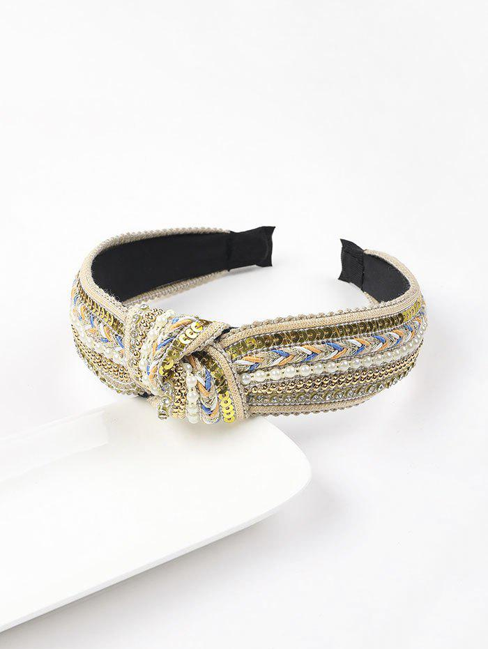 Fashion Retro Faux Pearl Sequins Beads Hairband