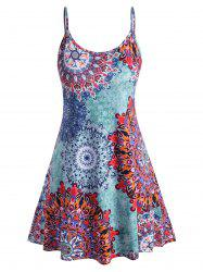 Plus Size Bohemian Print Knee Length Dress -