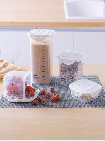 4Pcs Kitchen Scale Sealed Plastic Storage Tank Set