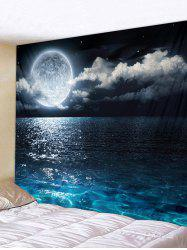Sea Moon Pattern Removable Tapestry Wall Hanging Decoration -