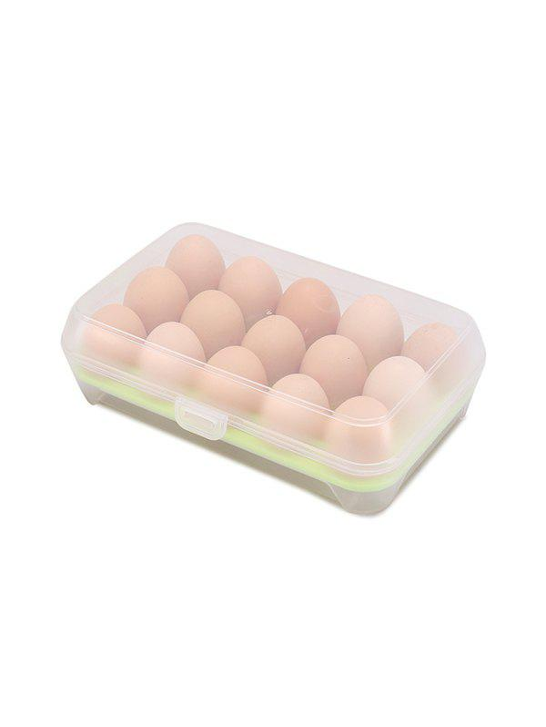Outfit 15 Grid Kitchen Refrigerator Portable Egg Storage Box