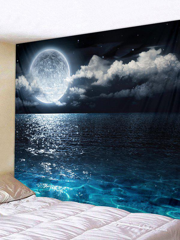 Store Sea Moon Pattern Removable Tapestry Wall Hanging Decoration