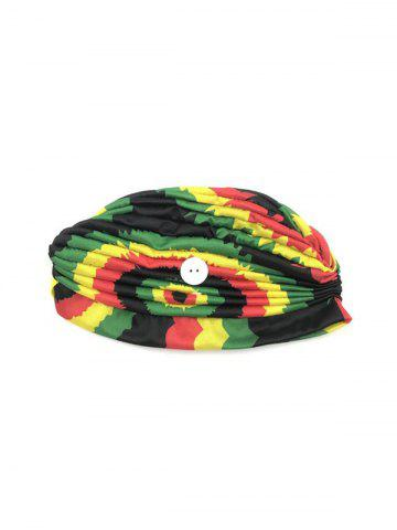Colored Printed Mask Hanging Button Indian Hat