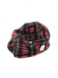 Cross Yoga Mask Hanging Button Plaid Headband -
