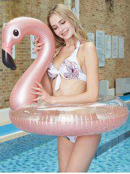 Sequins Flamingo Inflatable Water Floating Swim Ring -