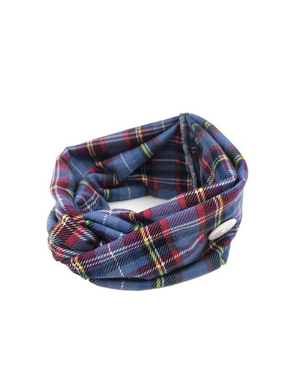Cross Yoga Mask Hanging Button Plaid Headband фото