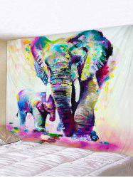 Hand Paint Elephant Print Tapestry Wall Hanging Decorations -