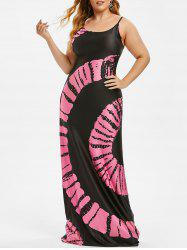Cami Tie Dye Beach Plus Size Maxi Dress -
