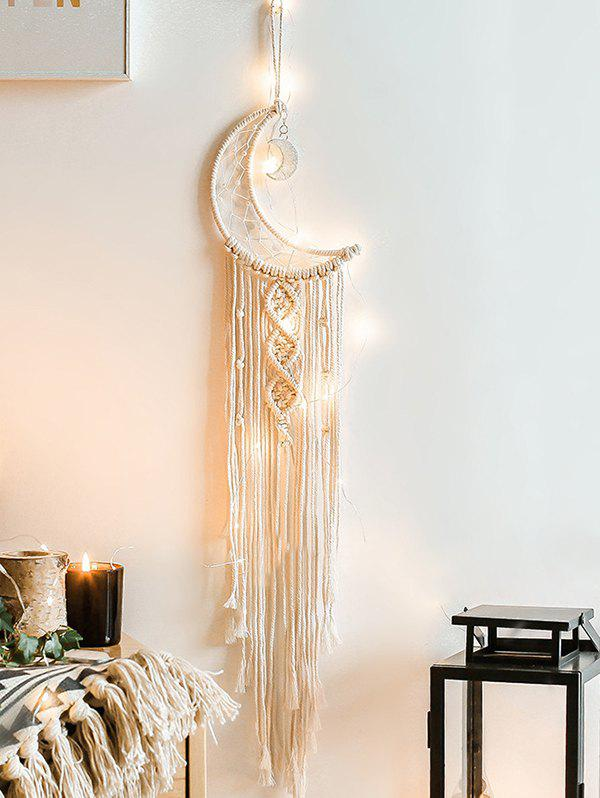 Affordable Moon Shape Fringe Wall Hanging Dream Catcher
