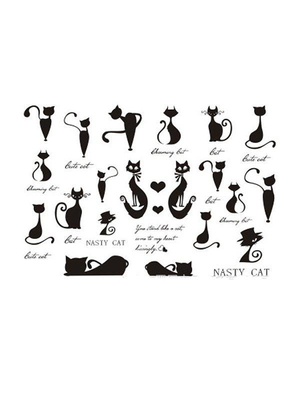 New Cats Finger Collarbone Waterproof Tattoos Stickers