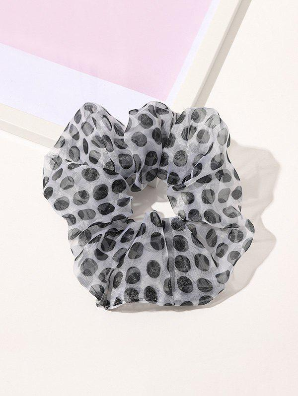 Trendy Dot Printed Gauze Transparent Scrunchy