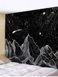 Painted Mountain Star Pattern Wall Tapestry -