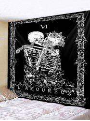 Skeleton Couple Print Polyester Tapestry -