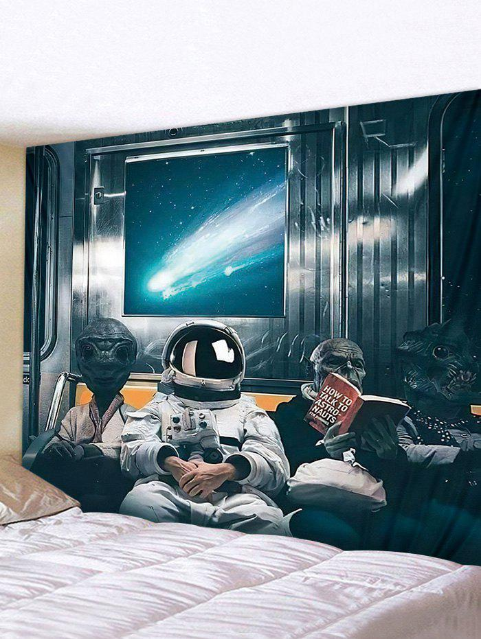 Online 3D Digital Printing Space Travel Alien Waterproof Tapestry