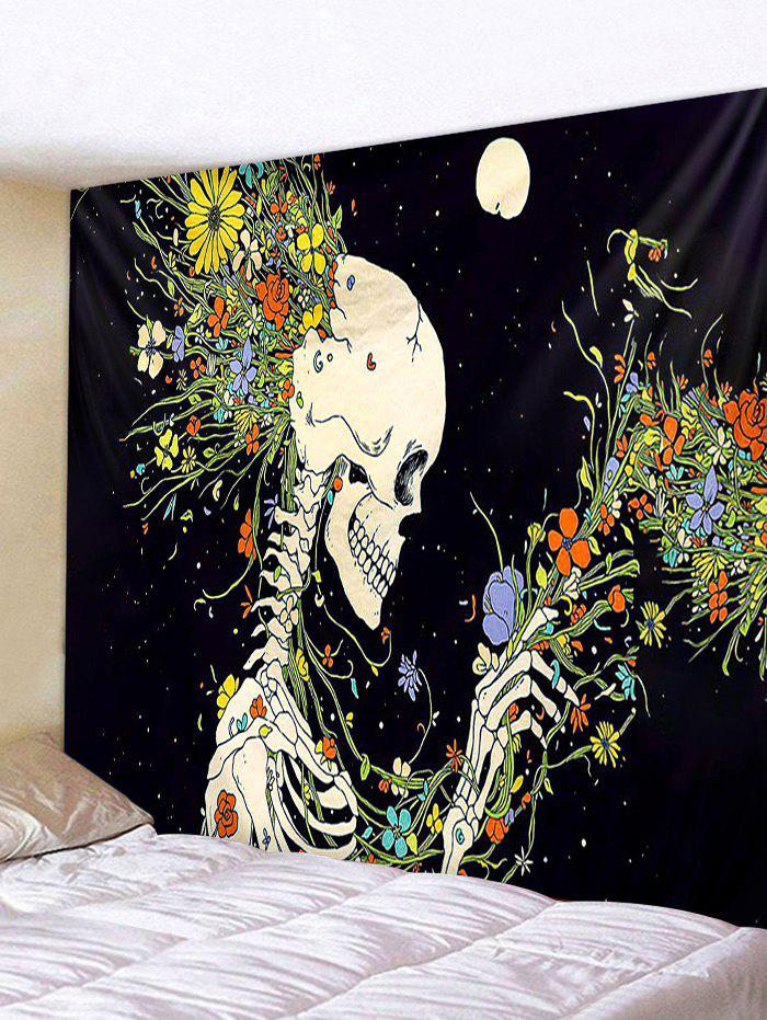 Cheap Flowers Skeleton Printed Wall Tapestry