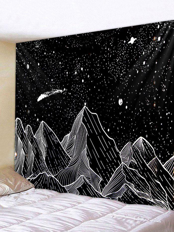 Cheap Painted Mountain Star Pattern Wall Tapestry