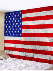 USA Flag Print Decorative Wall Hanging Tapestry -