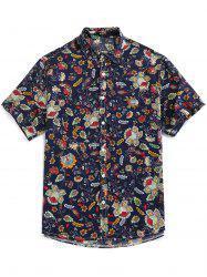 Floral Print Button Up Vintage Shirt -