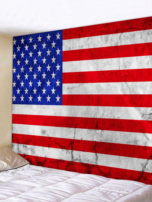 Online USA Flag Print Decorative Wall Hanging Tapestry