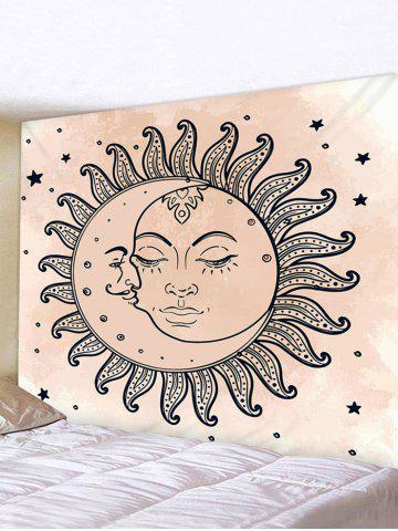Sun Moon Star Printed Tapestry Wall Hanging Art Decoration