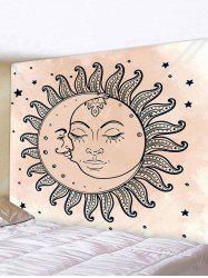 Sun Moon Star Printed Tapestry Wall Hanging Art Decoration -
