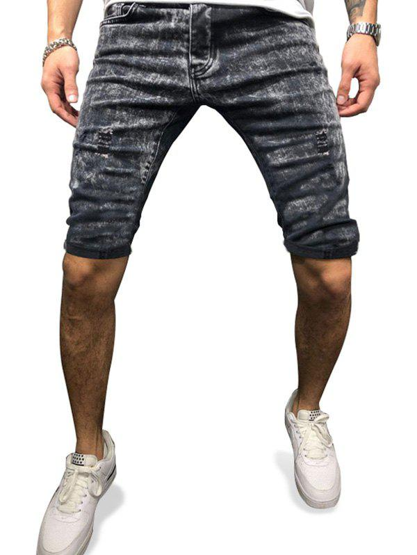 Trendy Distressed Destroy Wash Jean Shorts
