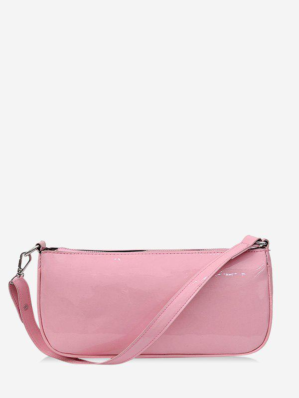 Affordable Pure Color Leather One Shoulder Bag