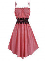 Lace Applique Frilled Cami Dress -
