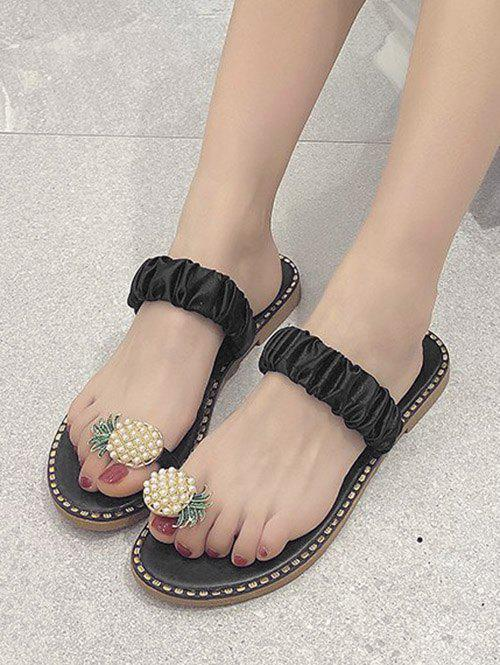 Chic Pineapple Toe Ring Flat Slides